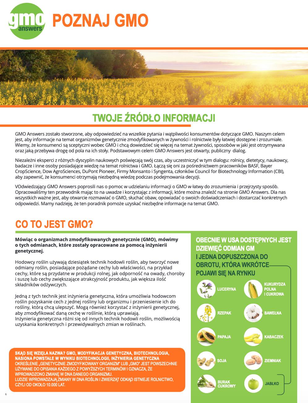 Get to Know GMOs