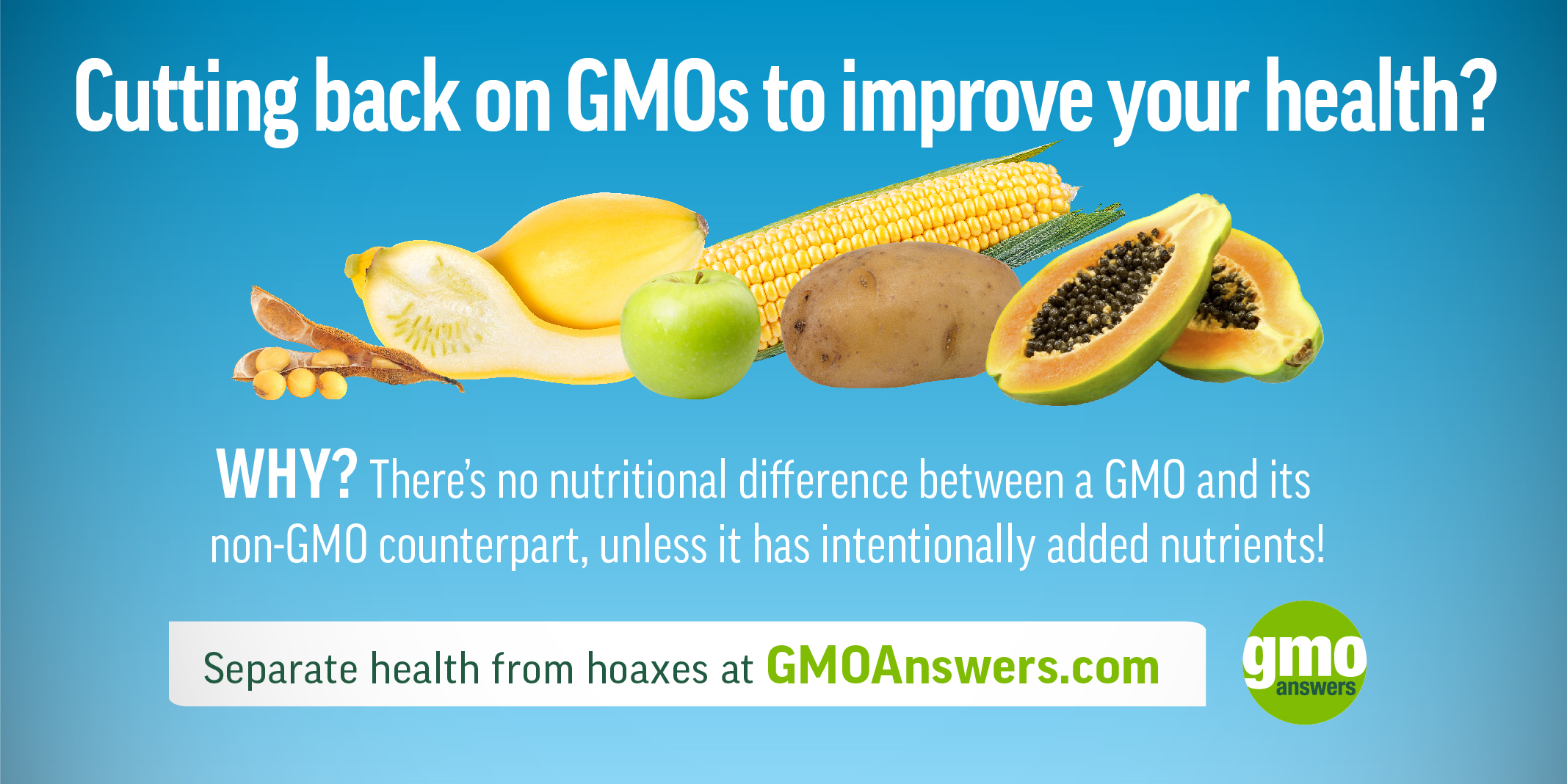 SOCIAL TILE: GMOs & Nutrition – Separate health from hoaxes