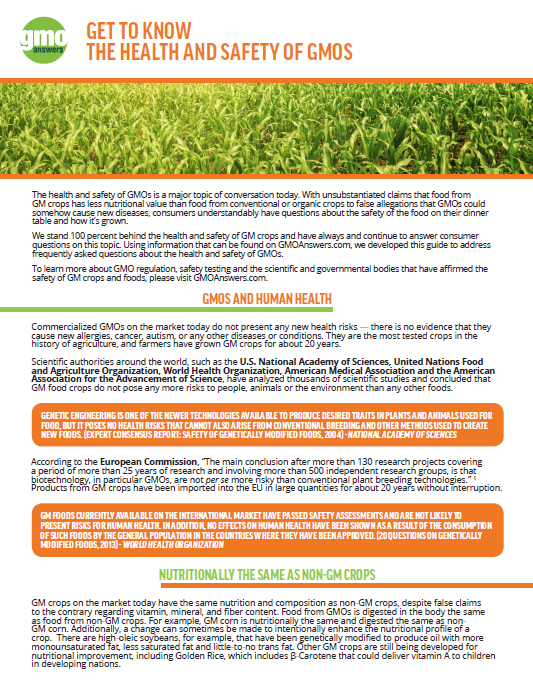 Educational Resources | GMO Answers