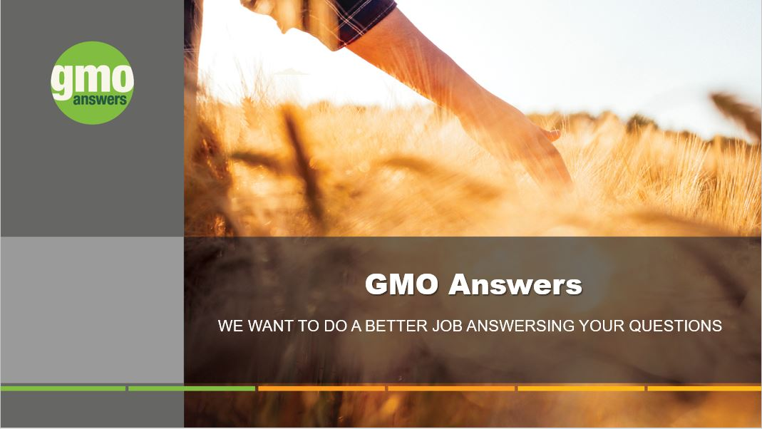 PRESENTATION: Get to Know GMOs