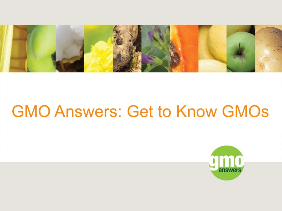 Get to Know GMOs - Presentation