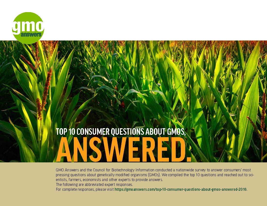 Top Ten Consumer Questions About GMOs