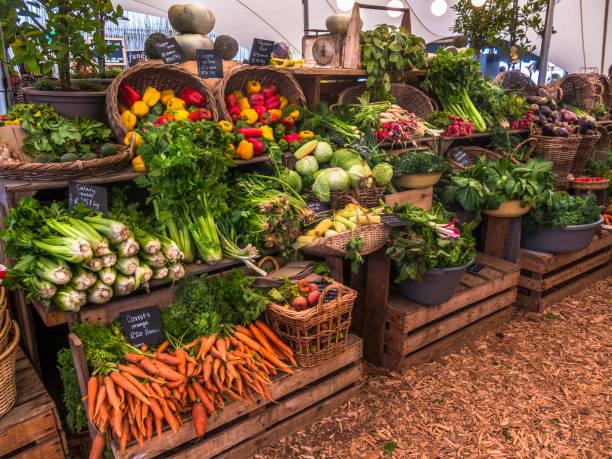 Farmers market in fall