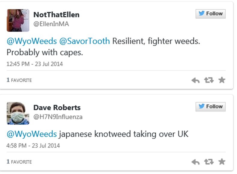 Tweets about superweeds