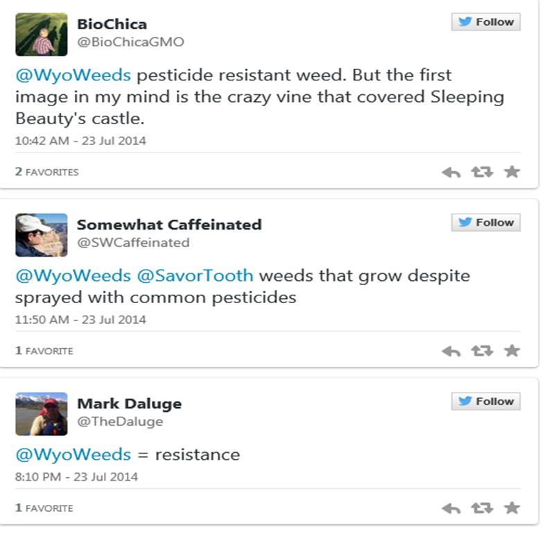 Tweets about superweeds